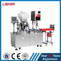 Oversea installation Automatic Cosmetic Cream/lotion/liquid Filling Capping Machine