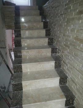 Natural Modern Travertine Stairs Treads Price