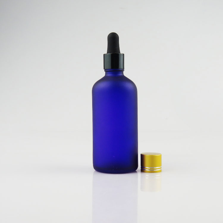 100 ml frosted color smoke oil liquid glass dropper bottle
