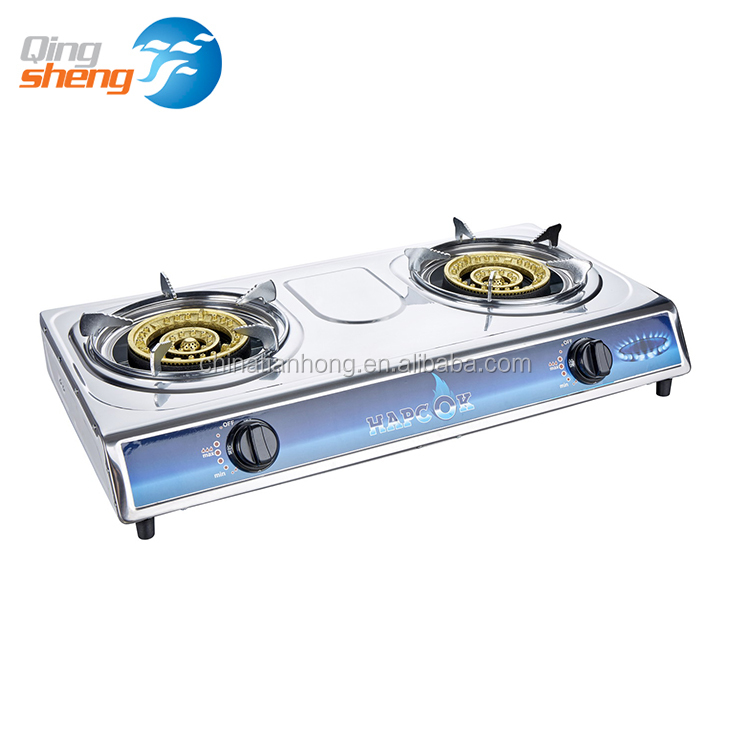 Universal Gas Cooker, Cast Iron Two 2 Burner Gas Stove Cooktops