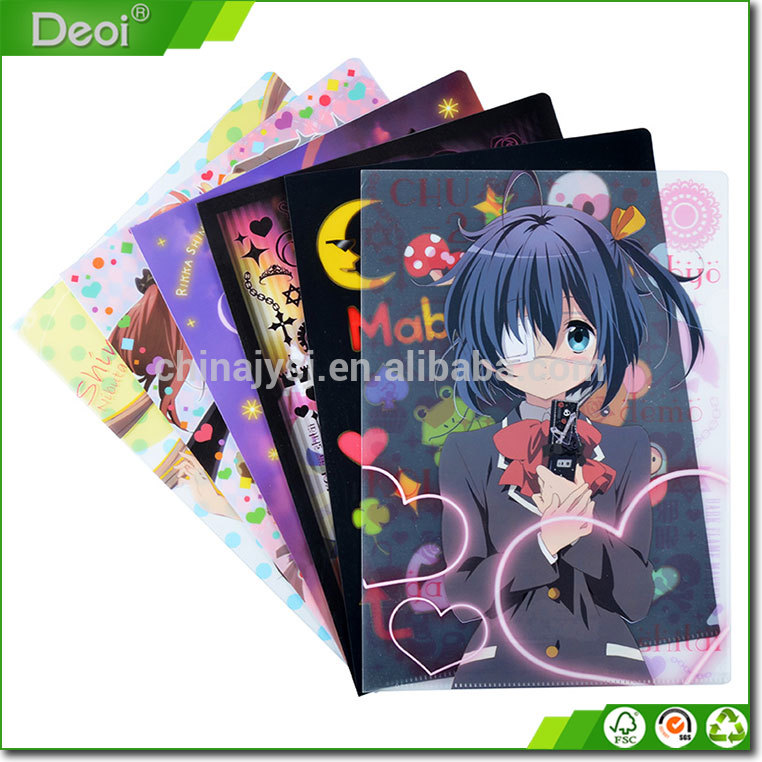 China factory custom promotional cheap PVC/PP clear file folder