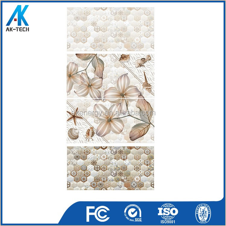 250x400 Mm New Design Flower Pattern Bathroom Floor And Wall Tile