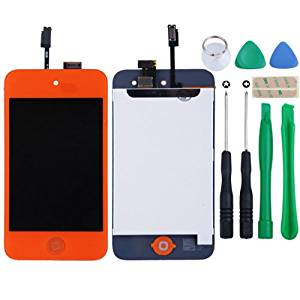 Orange LCD Digitizer Glass Touch Screen Assembly Replacement for iPod Touch 4th Gen 4G