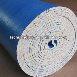 PU Sponge Carpet Underlay Soundproof Waterproof with PE