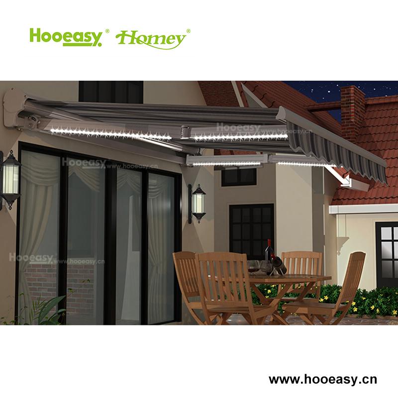 Parasol retrctil Manual de terraza de aluminio toldos para casas