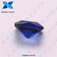 Factory price blue rough uncut synthetic glass gemstones