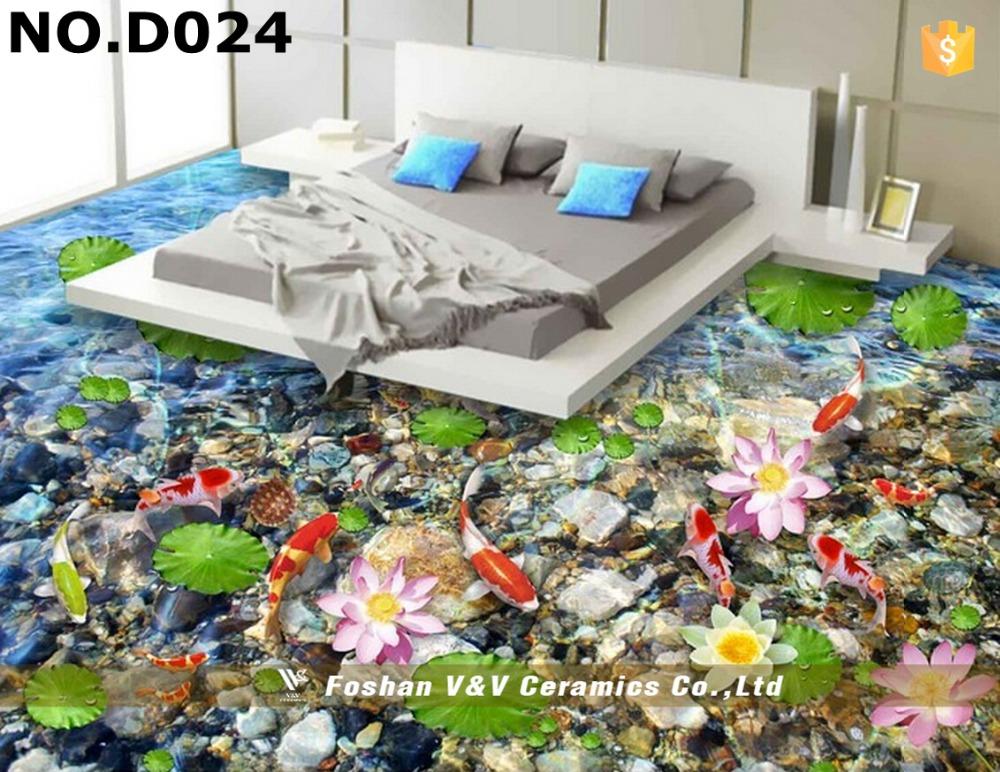 Patr n de flores 3d precios de pisos 3d de pared y piso for Suelos en 3d precios