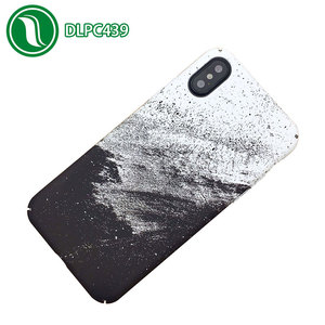 Black White Water Decals Phone Case for iphone 6 6s 6plus 7 7plus X XS Hard PC Phone Case Scrub Case Back Cover