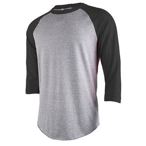 753232018e Wholesale tri blend t shirt blank baseball tee shirts 3 4 sleeve raglan  sleeve t