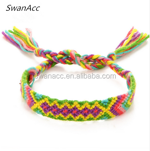 Ethnic Style Accessoires Bracelets for Women Bohemian Weave Multicolor Pink Rope Men Jewelry