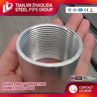 Q235 low carbon structural material threaded galvanized steel pipe fittings