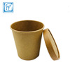 Smooth edge No rough disposable paper pasta bucket with paper lid
