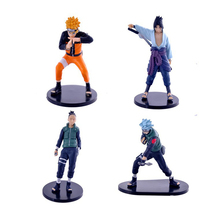 Custom een stuk Polyresin Anime <span class=keywords><strong>Naruto</strong></span> Action Figures 4 STUKS Set