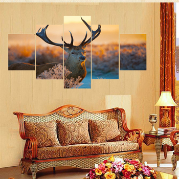 5 Panel Printed Canvas Painting Jesus Is Coming Canvas Print Art ...