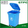 50L wheeled Eco-Friendly Feature and Outdoor Usage plastic garbage bin