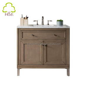 Wood Bath Furniture 30 inch Walnut Bathroom Vanity with Quartz Countertop
