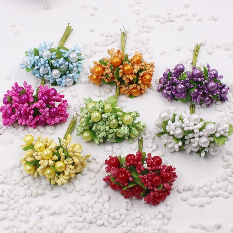 Artificial Beads Berries Pearl craft <strong>flower</strong> stamen scrapbooking <strong>flower</strong>