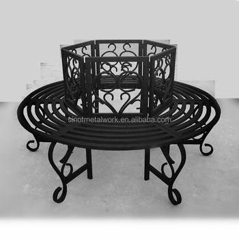 Round wrought iron garden tree bench steel scroll tree bench metal tree bench wrought iron - Advantages of wrought iron patio furniture ...
