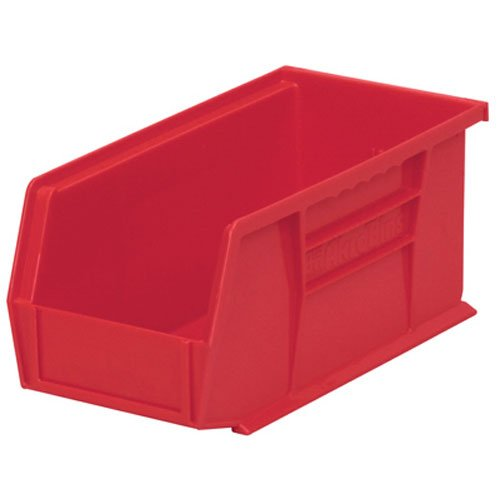 Akro-Mils 30230 Plastic Storage Stacking Hanging Akro Bin, 11-Inch by 5-Inch by 5-Inch, Red, Case of 12