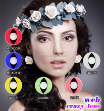 Theatrical customes chocolate red eye crazy contact lens
