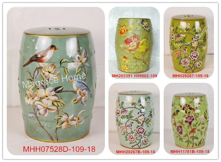 Sgabello Da Giardino In Ceramica : Pavone bianco porcellana stool jindezhen bagno spogliatoio