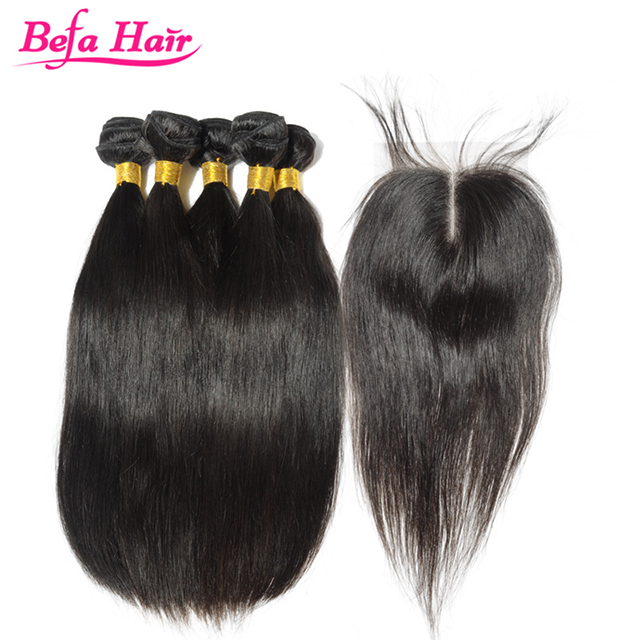 2016 new products hot sale virgin brazilian hair weave top grade 100% human hair straight texture hair weft and closure