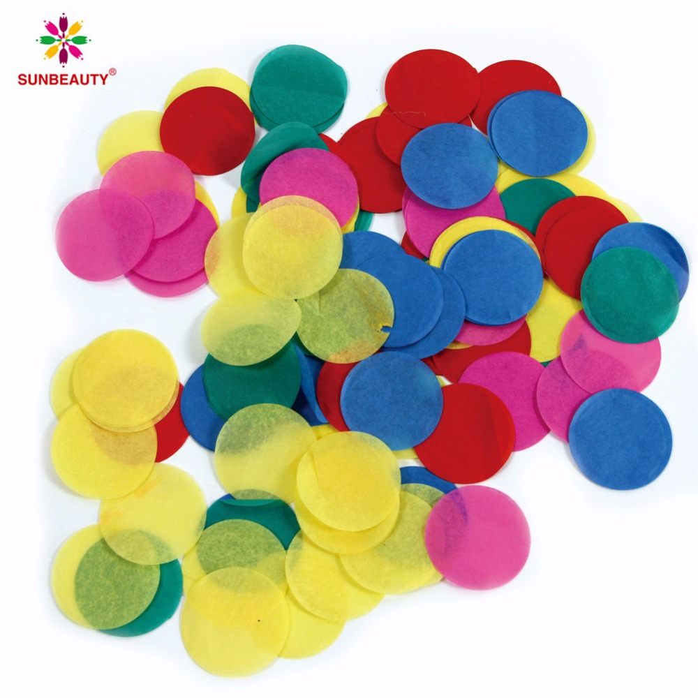 Wedding Decoration Tissue Paper Round Shaped confetti