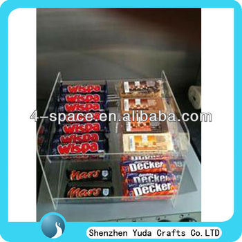 Acrylic Chocolate Display Stands Countertop Display Stand For ...
