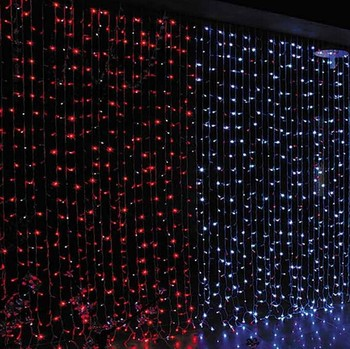 connectable fairy lights wedding decoration copper wire led waterfall curtain light