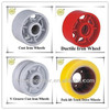 v-groove cast iron/ductile iron caster wheel