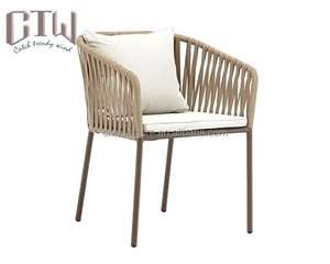 European style modern rope woven dining chair