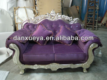 Gorgeous Carved Wood Silk Sofa Chenille Eden Manor Loveseat So Chic
