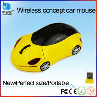 2.4G car shape wireless mouse, custom car shaped mouse from ISO9001 factory