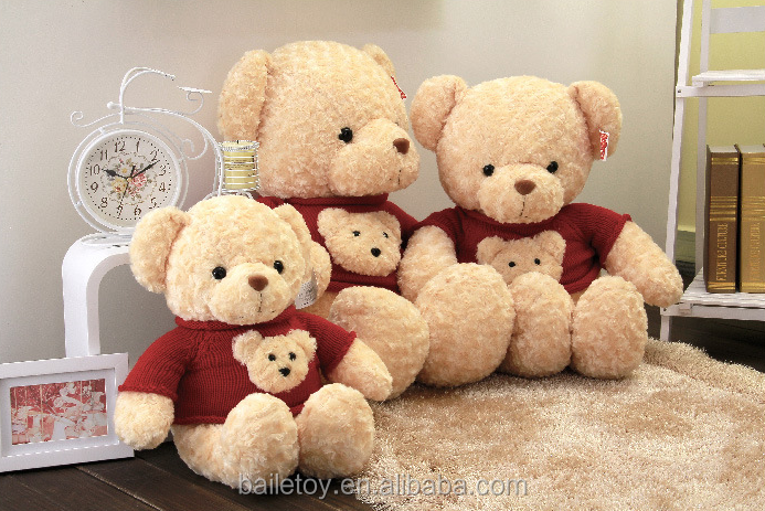 Plush stuffed toy teddy bear for kids