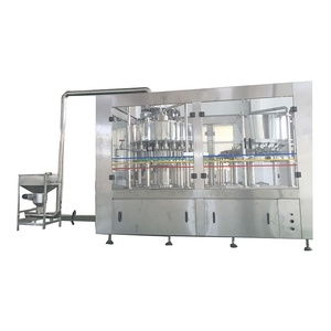 Automatic bottle washing filling capping machine cost 3in1 filling machine