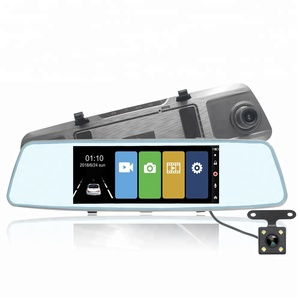 Rear View Mirror Monitor Car DVR Dual Lens Wide Angle 1080P Factory Direct 7 Inch Touchscreen Dash camera Recorder