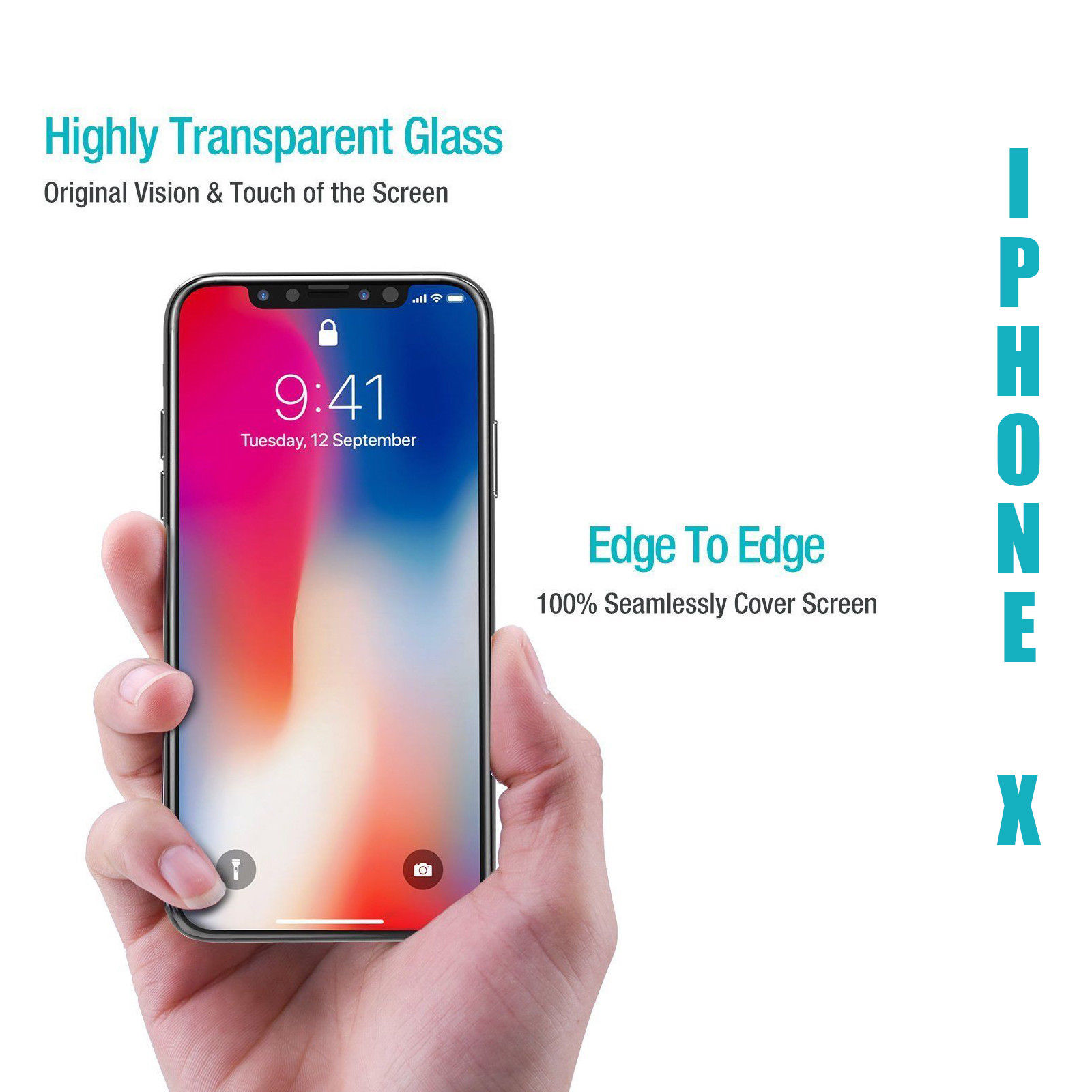 Factory Supply Best Quality 9H Hardness Screen Protector for iPhoneX