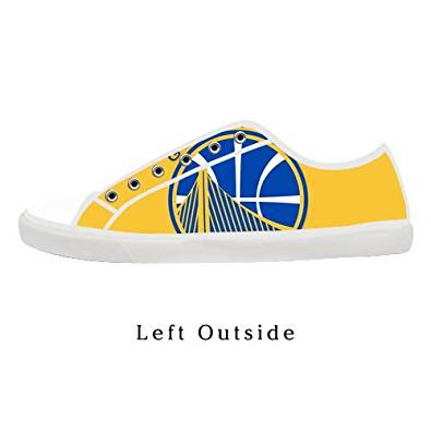 Men's NBA Golden State Warrior Low Top Canvas Shoes Lace-up Low Top Fashion Sneaker