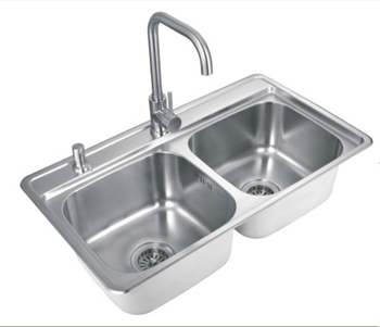 304 Two Bowls Stainless Steel Handmade Stainless Steel Kitchen Sink ...
