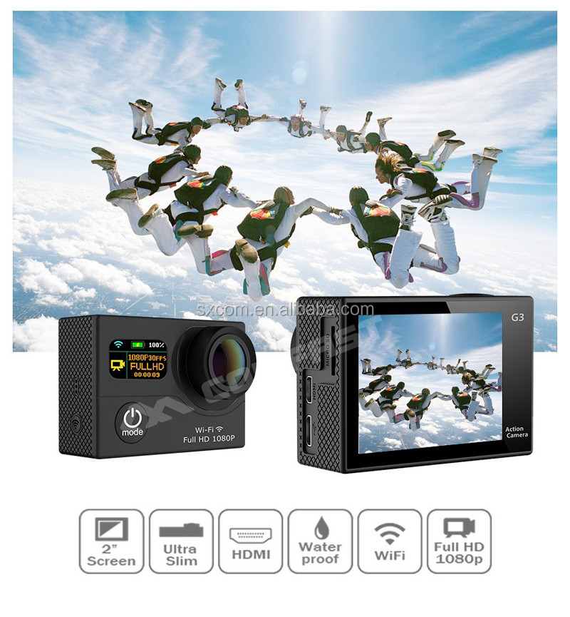 New Products best price 2016! 1080P Video Dual Screen WiFi Waterproof Sport Camcorder--DV-26
