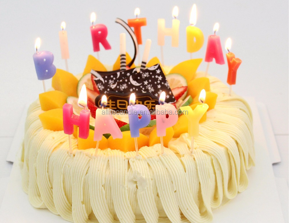 Allite Wholesale Letter Amazing Happy Birthday Candle Cake