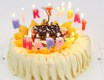 Allite Wholesale Letter Amazing Happy Birthday Candle Cake