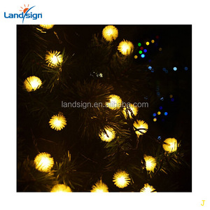 factory price Cixi landsign XLTD-143 solar string light Waterproof Fairy Dandelion Ball