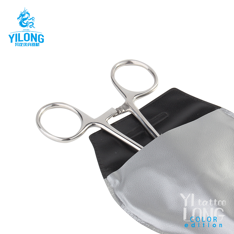Yilong stainless Forceps Round Slotted Clamp Body Piercing Tools Plier Tattoo