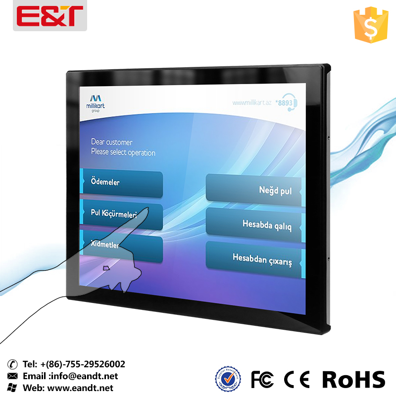 Open frame 19 inch lcd display for capacitive pos touch screen tv