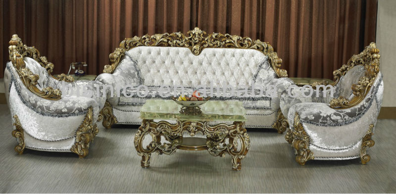 Middle East Luxury Antique Wooden Hand Carved Living Room Sofa Set Bf02 07245 Clical Italian Furniture