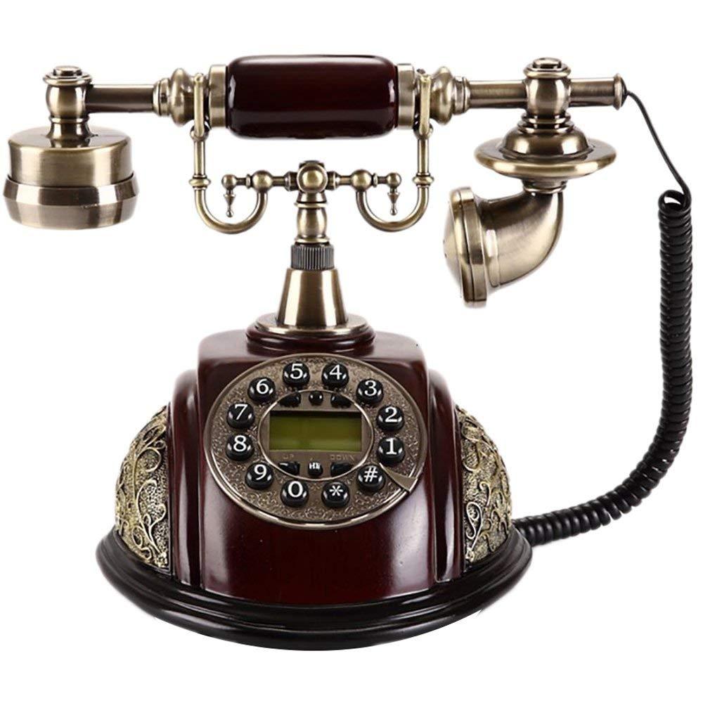 retro Telephone Retro Telephone European Fashion Creative Antique Telephone Home Fixed Landline Telephone Retro Phone ( Color : Button )