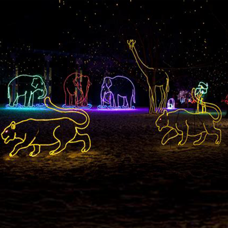 Outdoor Large Animals Led Christmas Light Giraffe Lighted