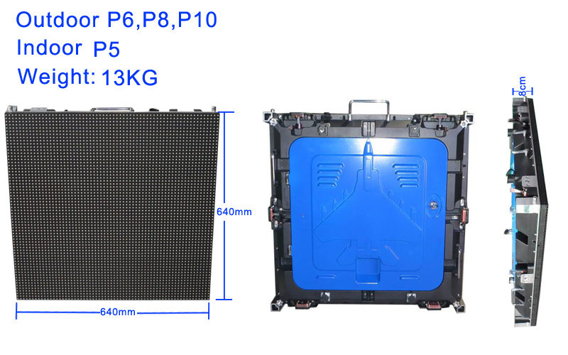 DIP outdoor die casting aluminium led display P5 waterproof CE