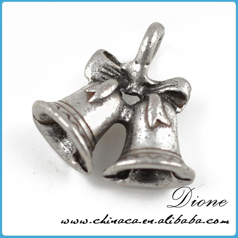 Christmas small bell charm New arrival !!! decorative fashion antique silver bell charm
